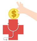 logo medico y signo pesos